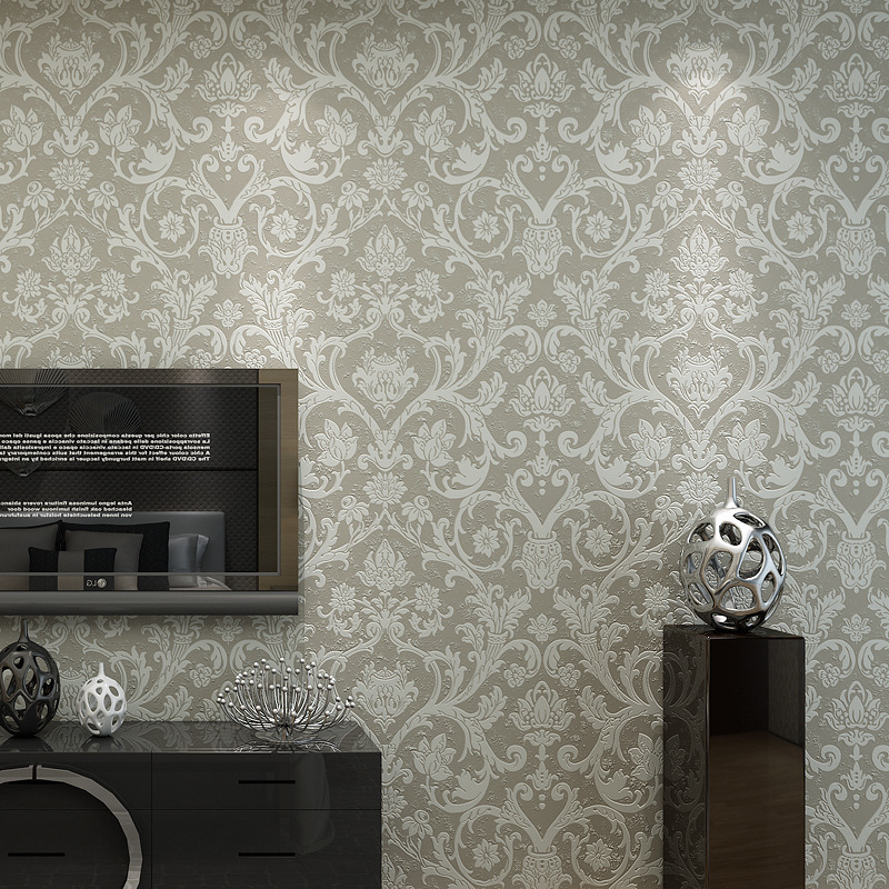 beibehang style living room in Damascus, European style bedroom wall TV background wall TV wallpaper 3D Wallpaper<br>