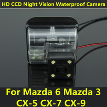 For Mazda 6 CX-5 CX-7 CX-9 2009 2010 2011 2012 Car CCD 4LED Night Vision Backup Rear View Camera Waterproof Parking Assistance