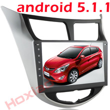 Car Radio DVD Player for Hyundai Solaris 2010 2011 2012 2014 2015 2016 Verna Accent android 5.1 gps navigation wifi BT USB SD