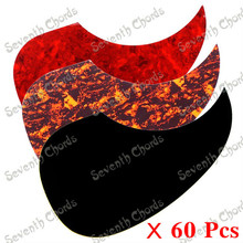60 Pcs 3 Colors Drop Shape Folk Acoustic Guitar Pickguard Pick Guard Anti-scratch Plate