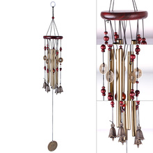 Hot Sale Antique Amazing 4 Tubes 5 Bells Copper Yard Garden Outdoor Living Wind Chimes Gift #69213(China)
