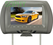 Headrest LED color monitor 7 Inch TFT LCD Screen Car Video Products General Car Headrest Monitor AV USB SD MP5 FM speaker(China)
