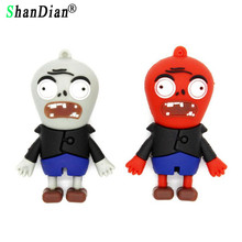 SHANDIAN cool zombie style pendrive Genuine 4GB 8GB 16GB 32GB Creative Plants VS zombie Memory Stick usb Flash Drive(China)