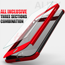 H&A 360 Degree Full Cover Case For iPhone 7 6s 5s 5 SE With Tempered Glass Case cover For iphone 7 6 Plus Phone bag Capa Coque(China)