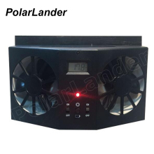 PolarLander 12V Car Ventilation Fan Solar Sun Power black Window Auto Ventilator Cooler Air Radiator Vent Rubber