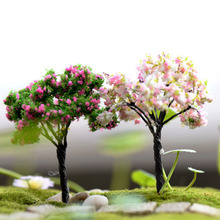 Lovely Miniature Cherry Coconut Tree Plastic Crafts Kawaii Trees For Miniature Garden Ornament Dollhouse Plant Pot