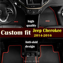DHL TNT Floor Mat Liner Mats Carpets Rubber / PU For Jeep Cherokee 2014 Up Free Shipping  high quality Non-slip mat waterproof