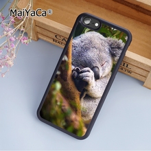MaiYaCa Sleeping Koala Bear Australia soft mobile cell Phone Case Cover For iPhone 7 Custom DIY cases(China)