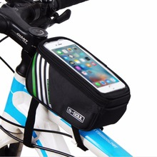 4 color bicycle bag mtb bike front frame top tube bag cycling bags accessories waterproof anti skid Bag for 5.2 5.7 inch phone(China)