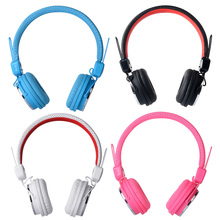 3.5mm Plug Stereo On-ear Headset Headphones With Microphone 1.2m Cable for PC Mobile Phone Black White Blue Pink