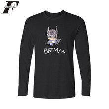 LUCKYFRIDAYF Cartoon Batman 4xl Black T-shirt Men Long Sleeve Plus Size with Navy Blue Men TShirt Brand Famous in Tee Shirt Boys(China)