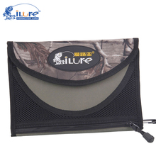 Ilure Fishing Lure Bag 24.5cm*6.5cm*3cm Nylon Canvas Soft Lure Bag Waterproof Fishing Bait Bag Accessory With Multicolor(China)