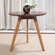Living Room Furniture Modern Walnut Wood End Center Accent Small Side Table Oak Legs Furniture Sofa Side Table Round Wooden