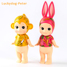 Sonny Angel 2pcs/set Action Figures Rabbit Carrot Monkey Banana Sonny Angel Artist Collection PVC ACGN figure Toys Brinquedos
