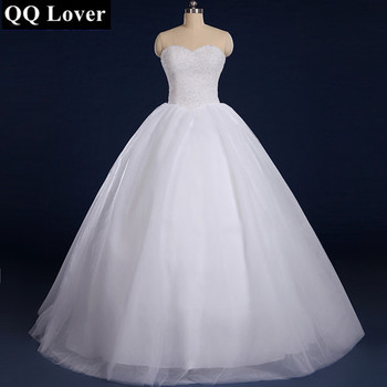 QQ Lover 2017 Full Beaded Ball Gown Wedding Dress With Real Pictures Plus Size Custom-Made Vestido De Noiva