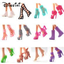DIWEINI 12PCS Shoes for Barbie Dolls Toys Fashion Doll Accessories Baby Toys Girls Gift Princess fairy tale shoes(China)