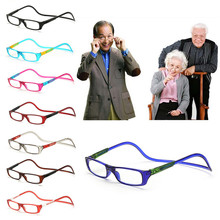 New 8 Colors Frame Readers Reading Glasses Easy Hang Neck +1.0~+4.0(China)