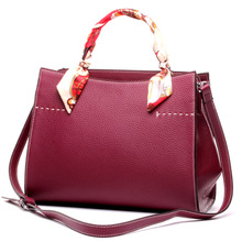 Famous Brand Genuine Leather Bags for Women Durable Tote Bags Ladies Business Handbag Ribbons Shoulder Bag High Quality Hand Bag