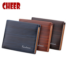 Men's Wallets men Pocket Casual Purse Money Clip Clutch Portfolio Men Dollar Price Multi-card bit Luxury wallets High Quality(China)
