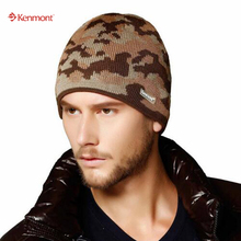 New Unisex Women Men Winter Earflap Camouflage Pattern Ski Beanie Caps Wool Knit Hats For Valentines Gift 9002(China)