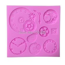 M037 Different Kinds Of Clock And Watch Shape Silicone Cake Mold For Cakes Decoration Sugar Craft Tools