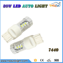 800 Lumens Bright  Chips T20 7440 LED Bulbs For Turn Signal 12V-28V 80W Led Parking Stop Backup Light Bulb Lamps