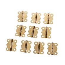 DHDL-10Pcs Mini Iron Butterfly Hinges Cabinet Drawer Door Butt Hinge(China)