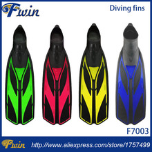 New arrival adult diving fins soft TPR foot pocket training fins multi size swimming fins and flippers topsale