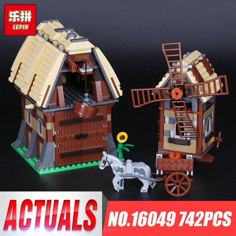Lepin 16049 Genuine 742pcs Creative Series The Mill Village Raid Set 7189 Building Blocks Bricks Educational Toy Christmas Gift<br>