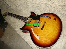 Custom Shop Honey Flame top Hollow Jazz Guitar Gold Hardware wholesale from China