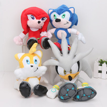 8'' 4pcs/lot Sonic the Hedgehog Plush Toys Ultimate Flash Sonic Hedgehog Plush Doll Good Gift For Kids Free Shipping(China)