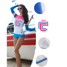 Hot Sale High Quality Sexy Women Rash Guard Suit UV Protection Long Sleeves Windsurf Surfing Swimsuit Swimwear Swimming Shirt