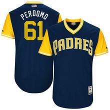 "MLB Men's San Diego Padres Luis Perdomo ""Perdomo"" Baseball Navy 2017 Players Weekend Authentic Jersey(China)"