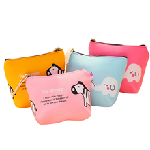 Cartoon Animal Pattern Coin Purse Girls Cute Ladies Kids Mini Wallet Bag Change Pouch Key Holder Small Money Storage Bag 20