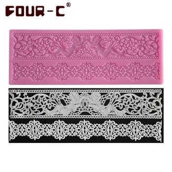 Hot silicone lace mold decoration baking tool cake lace mat fondant lace cake mold wedding decoration silicone mat free shipping