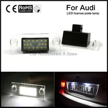 2x Number Error Free LED SMD License Plate Lights For Audi A4 S4 B5 98-01 White(China)