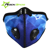 2016 ROCKBROS Outdoor Winter Rainproof Cycling Motorcycle Masks Antipollution Face Mask & Carbon Filter Bicycle Dustproof Mask