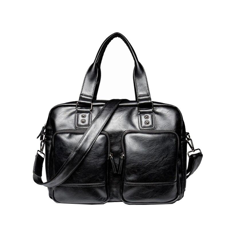 Famous Brand Classic Design Leather Shoulder Bag Mens Messenger Bags Promotional Casual Business Man Bags Briefcase<br>