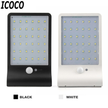 ICOCO 36 LEDs Waterproof Solar Powered Emergency Lamp Mono-crystalline Silicon Energy Saving Night Light IP65 Lighting 2 Colors(China)