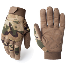 Breathable Lightweight General Multicam Camouflage Tactical Army Military Work Bicycle Airsoft Shooting Gear Full Finger Gloves(China)
