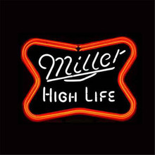 "17*14"" MILLER HIGH LIFE NEON SIGN REAL GLASS BEER BAR PUB LIGHT SIGNS store display Restaurant Advertising Lights(China)"