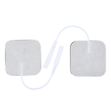 Non-woven Message Electrode Pads Tens 4*4cm Electrodes Digital Therapy Machine Massager 2mm Plug Silicone(China)