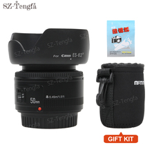 YONGNUO YN 50mm Lens fixed focus lens EF 50mm F/1.8 AF/MF lense Large Aperture Auto Focus Lens For Canon DSLR Camera(China)