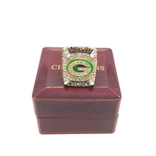 Factory price 2010 Green Bay Packers world championship rings replica solid ring RODGERS drop shipping(China)
