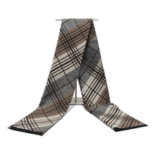 warm long men scarf cotton Tassel double Fine stripe plaid Scarves men winter new Fashion striped Scarf for Men wraps(China)