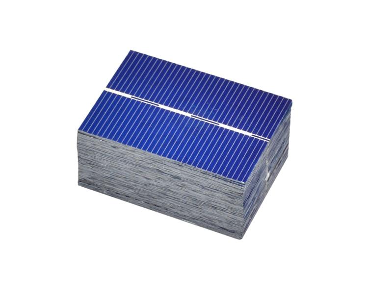 Aoshike 100Pcs 0.5V 0.35W Solar Panel Solar Cell Color Crystal Module Sun Power Bank 39x52MM DIY Solar Battery Charger 5