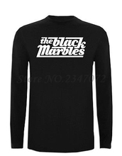 Camiseta The Black Marbles Manga Larga XXL XL L M S Size Blues Hard Rock TShirt Free Shipping