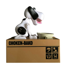 Puppy Doggy Bank Hungry Hound Money Banks Kids Bank Coin-Eating Money Saving Box (Black White)(China)