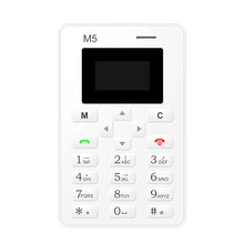 Aiek M5 Unlocked small Bar Mobile Phone For Children Women Kids Girls Lady Cute Mini Vibration Ultra thin Card Cell Phone