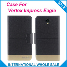 5 Colors Super! Impress Eagle Vertex Case Fashion Business Magnetic clasp, High quality Leather Exclusive Cover Phone Bag